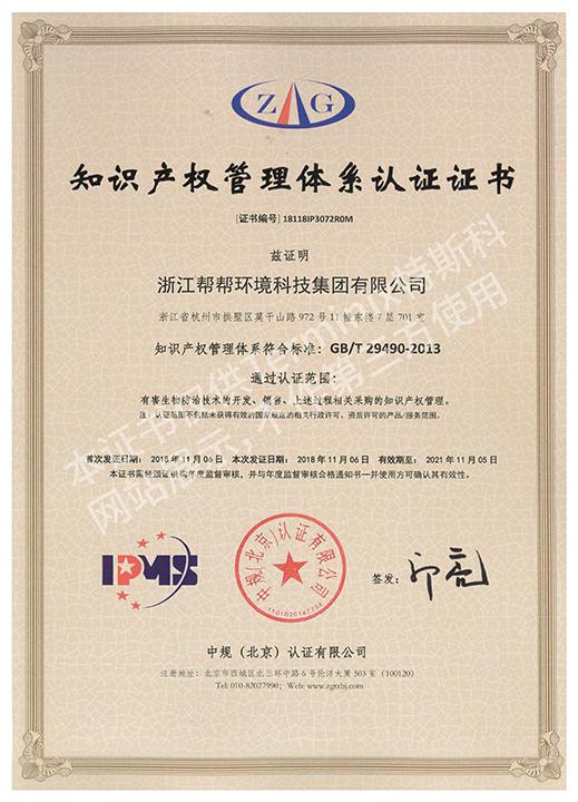 246-246_知识产权管理体系认证证书