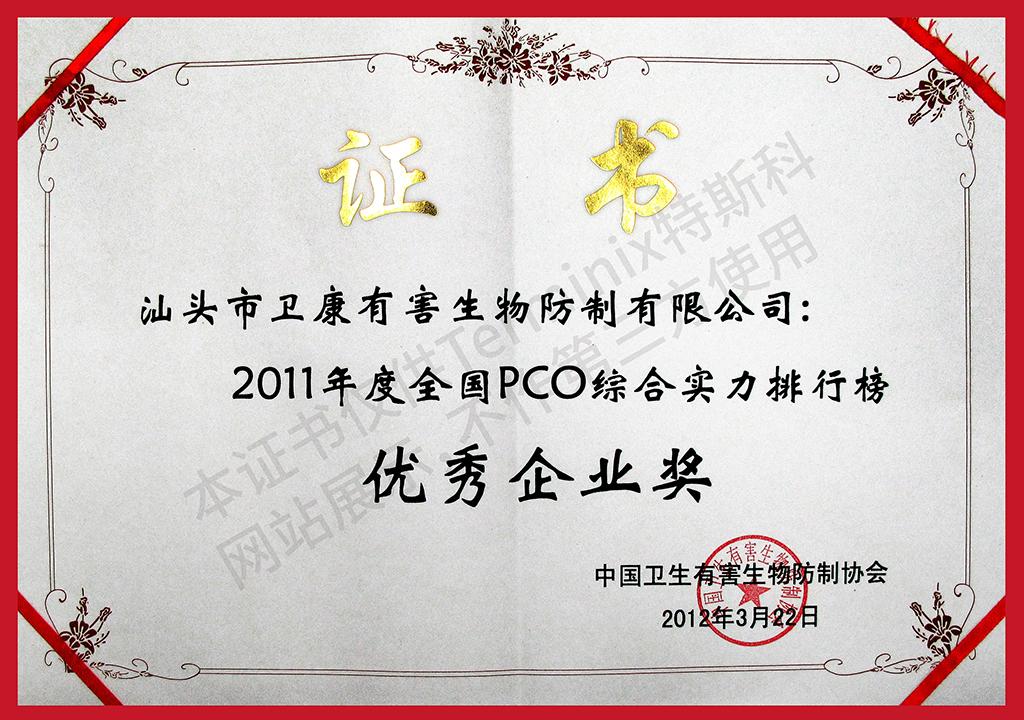 2、PCO优秀企业奖